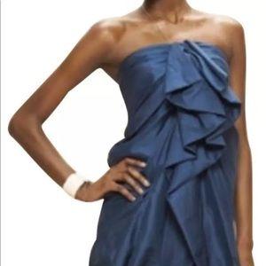 3.1 Phillip Lim Dress 4 Silk Midnight Blue Ruffle